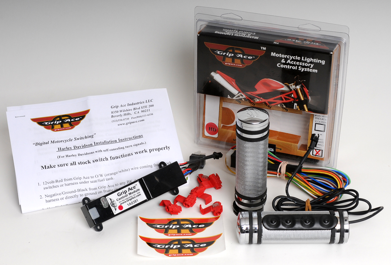 Gripace Digital Switch Kit For Harley Davidsons 2015 Heated Grips Wiring Diagram Grip Ace Davidson